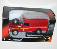 Cararama - Land Rover S3 With Ladders Fire Brigade Model Scale 1 43