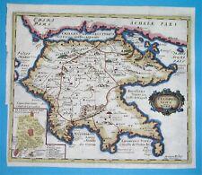 1686 VERY NICE RARE ORIGINAL MAP GREECE PELOPONNESE MOREA Corinth Arcadia Achaia
