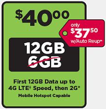 PreLoaded SIMPLE MOBILE SIM Card $40 PLAN UNLIMITED TALK,TEXT & DATA(12GB LTE)