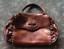 Francesco Biasia Purse Handbag Copper Color With Studs