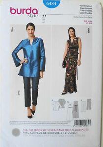 Burda Style 6484 Misses Dress Tunic Pants Sewing Pattern Sz 8-18