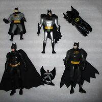 Batman Action Figure Lot Vintage Toys Batmobile HeroClix Movie Animated Series
