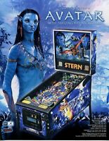 James Cameron's Avatar Pinball FLYER Original 2010 NOS Promo Game Artwork Sheet
