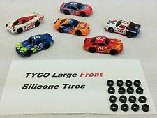 Tyco 440 Hp7 440-x2 ☆16 piece Large Front Silicone Tires☆ Ho Slot Car Parts