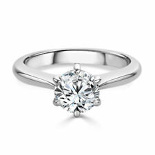 Moissanite Solitaire Engagement Ring Princess 14k White Gold 2.00ct