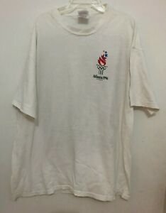 1996 OLYMPICS ATLANTA VINTAGE WHITE T-SHIRT SIZE XL 46-48 WITH 197 Country Flags