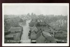Somerset STOGURSEY village from church tower RP PPC Whitby Light Lane Bridgwater