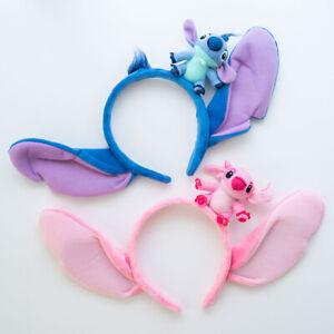 Disney Lilo And Stitch Ears Costume Plush Hair Headband Cosplay Birthday