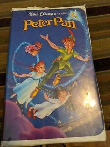 Walt Disney's Black Diamond Classics Peter Pan  VHS Tape 1990