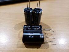 Set of 4 New Nichicon 3300uf, 50V capacitors (VR Series)