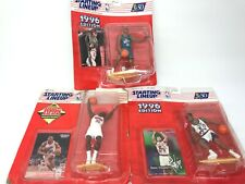 LOT OF 3 1996 Starting Lineup Sport Figurines Cards Stoudamire Hill Weatherspoon