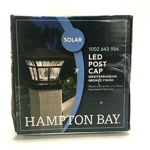 Hampton Bay Solar LED Post Cap Outdoor Light, Mediterranean Bronze Finish