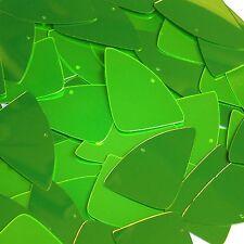 "Lime Green Fluorescent Metallic Fishscale Fin 1.5"" Couture Sequin Paillettes"