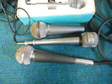 LOT OF 4 VINTAGE HIGHBAll MICROPHONES RADIO SHACK/FUTURA WITH CABLE