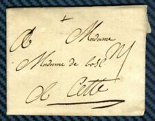 -= Lettre de ROCHEFORT (Aunis) pour CETTE (Languedoc) - 1757 =-