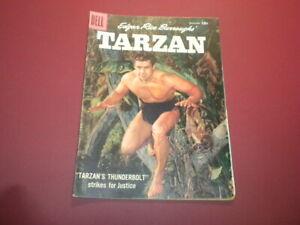 TARZAN #99 Dell Comics 1957 jungle EDGAR RICE BURROUGHS Gordon Scott movies/tv