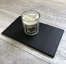 Handmade Slate Trivet Candle Placemat Candle Display Board 15x25cm