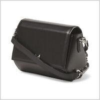 NWT 295$ Halston Heritage Small Structured Crossbody Bag Geo Mini Black leather
