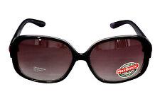 FOSTER GRANT FG42 Mujer Redondo Cuadrado Estilo Plástico Negro Gafas de sol