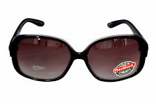 Foster Grant FG42 Women's Rounded Square Style Black Plastic Sunglasses CAT 3