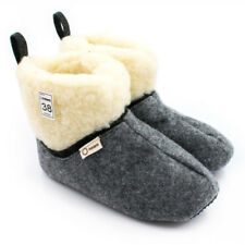 Felt Women's Slippers Boots Booties with Warm Sheep Wool Lining UK 2.5 - 7