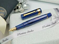 Fountain pen Santini Italia Ebonite Nonagon Midnight blue nib 18Kt faceted pen