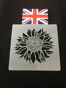Sunflower Stencil For Cake Decorating