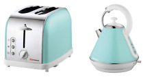 Kitchen Set Green 1.8L Cordless Electric Kettle Fast Boil &  2 Slice Toaster
