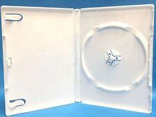 10 pcs Premium White Single CD DVD Cases, Hold 1 Disc, Standard 14mm, SW