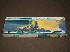 Aoshima 1/700 Scale German Battleship Bismarck
