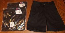 Sz 4 Nwt Boys Chaps Black Pocket Adjustable Uniform Shorts Lot of 3