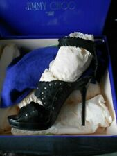 Jimmy CHOO At H&M H M Black Stiletto Heels Gladiator Size 6 EU 39 Sold Out Rare