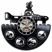 The Beatles Rock Band Yellow Submarine_Exclusive wall clock made of vinyl record