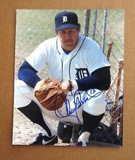Detroit Tigers 1984 World Series Champ Lance Parrish Signed 8 x 10 color photo