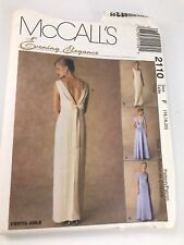 VINTAGE MCCALL'S #2110 PATTERN FOR MISSES SIZES F (16/18/20) LINED EVENING GOWN