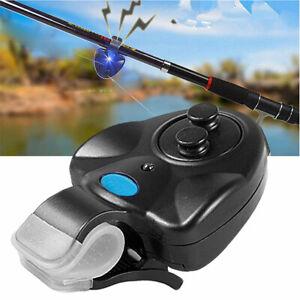 ELECTRONIC LED LIGHT CLIP NIGHT FISHING ROD FISH BITE SOUND ALARM ALERT TOOL