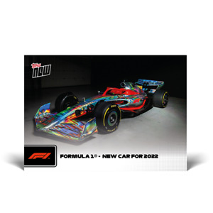 14k FB No Cancel- New Car for 2022 - 2021 Topps Now Formula 1 F1 Card #36