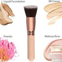 Flat Top Foundation Brush Large Face Brush for Liquid Cream Powder Rose gold 1pc