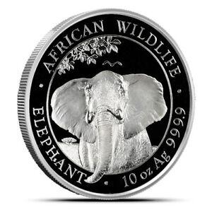 2021 Somalia Elephant 10 oz Silver Coin BU