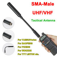 SMA Male Walkie Talkie Tactical Antenna UV Dual Band for Yaesu Baofeng Ham Radio