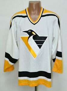 NHL PITTSBURGH PENGUINS ICE HOCKEY SHIRT JERSEY CCM SIZE L ADULT