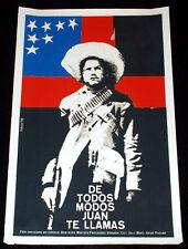 """1976 Origin.Cuban Movie Poster.Plakat.Affiche.affisch""""Juan The Mexican""""Charro."""