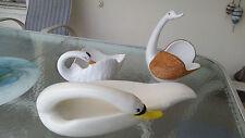 Hand crafted Italian Swan bowls by Tarzia Firenze
