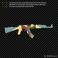 Delaware State Shape AK-47 Sticker Decal AK47 Kalashnikov DE