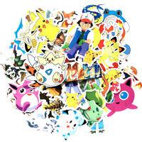62 PCS (No Repeat) Pokemon Pikachu Vinyl Stickers Set (USA Seller)