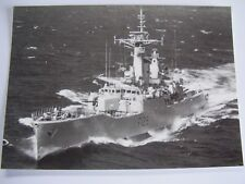 B/W POSTCARD HMS PLYMOUTH FALKLAND BOAT SHIP & DETAILS BLACK WHITE NAVY MILITARY