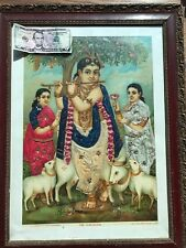 Extraordinary Vintage Original Poster from India, Hand Beaded and Sequin'd and