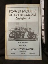 Power Models Metals # 19 COLE, Charles A. Modern Engineering Supplies 1963