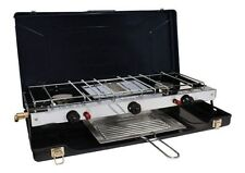 NEW FOLDING DOUBLE BURNER/GRILL CAMPING BUSHCRAFT h