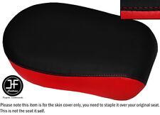 BLACK & RED VINYL CUSTOM FITS YAMAHA XVS 650 CLASSIC V STAR REAR SEAT COVER ONLY